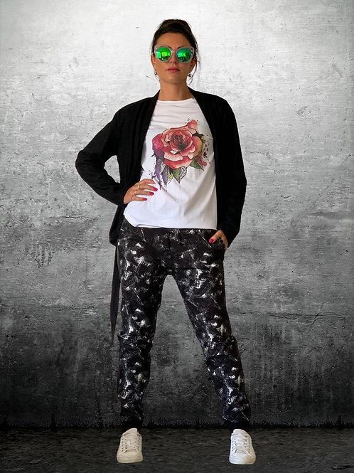 Kickback Pants - Black / White