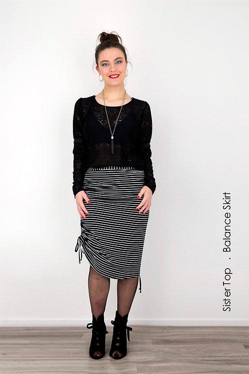 Balance Skirt - Black Stripe