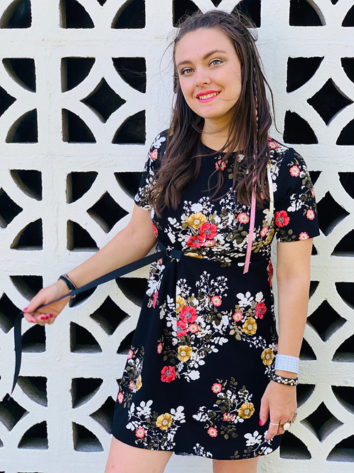 Dream Chaser Dress - Black Floral