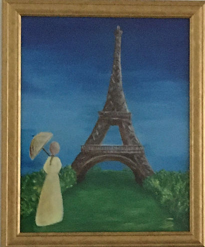 Lady Belle at Eiffel Tower