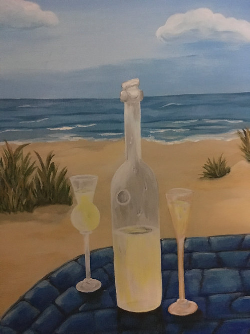 Limoncello by the ocean