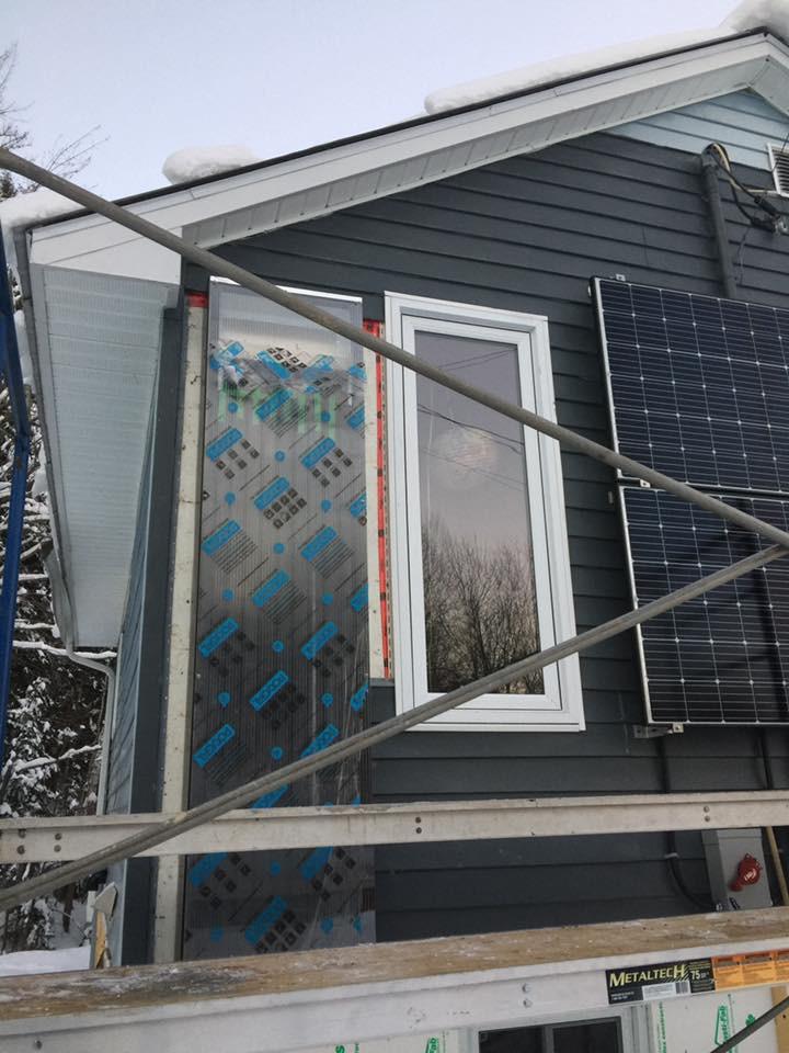 Solar air heater on bathroom window