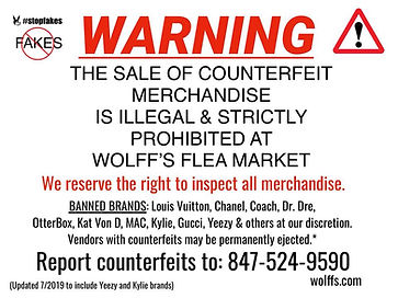 No counterfeits allowed