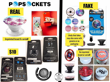 Compare real & fake Popsockets