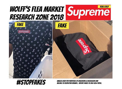 Supreme is highly counterfeited
