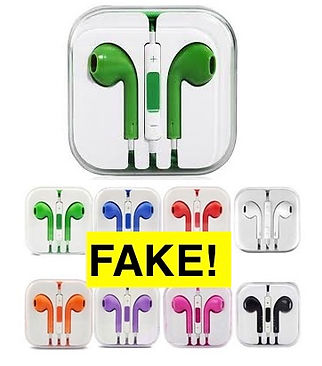 Counterfeit Apple earpods are banned