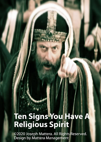 10 Signs you have a relgious Spirit book