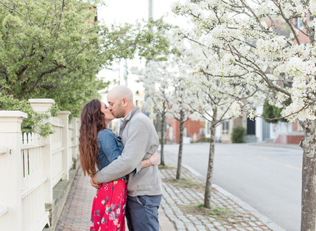 Downtown Portsmouth Engagement | Melissa + Joey | NH Wedding Photographer