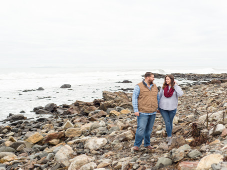Odiorne Point State Park Engagement Session | Rye, NH | Julia + Zach | Wedding Photographer