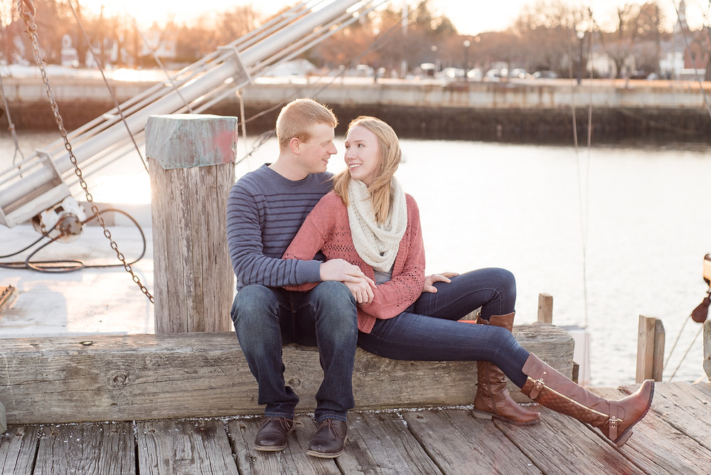 peirce island engagement session