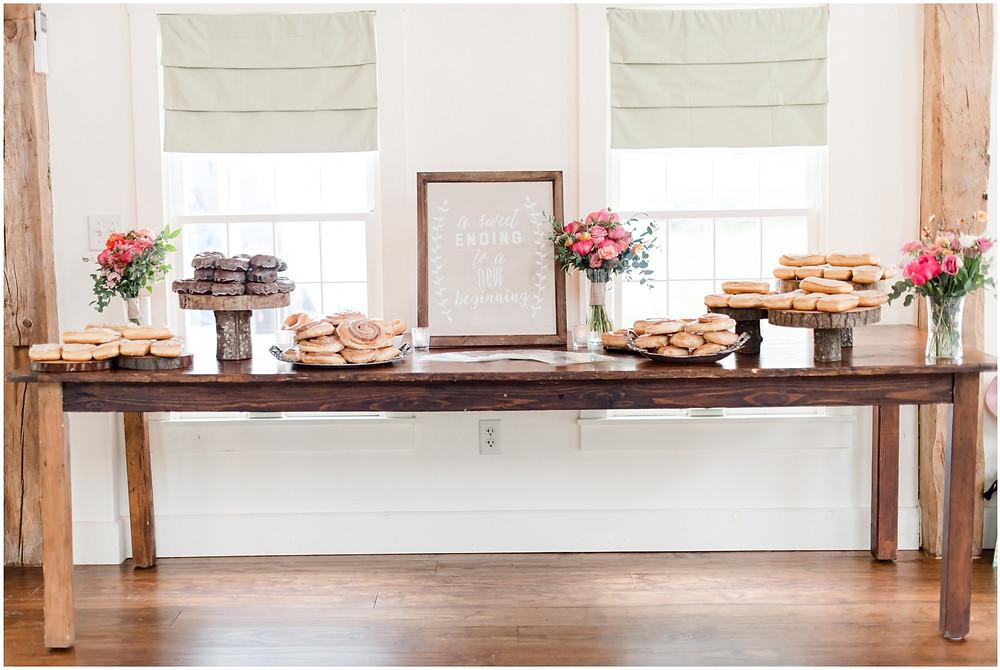wedding dessert donuts