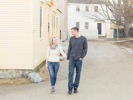 Strawbery Banke Engagement Session | Portsmouth, NH | Julia + Brandon