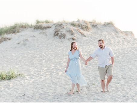 Hampton Beach State Park Engagement   Hampton, NH   NH Wedding Photographer