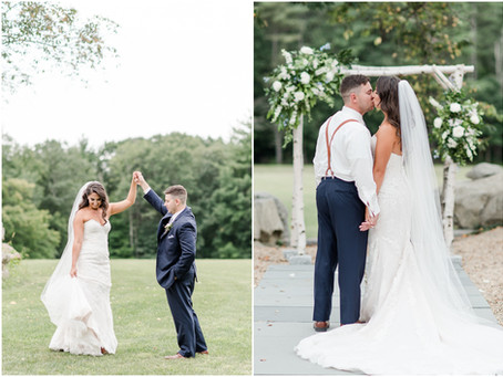 The Barn at Powder Major's Farm Wedding | NH Wedding Photographer | Maddie & Curtis
