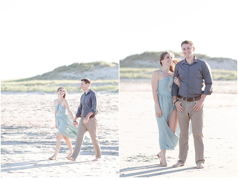 hampton beach engagement