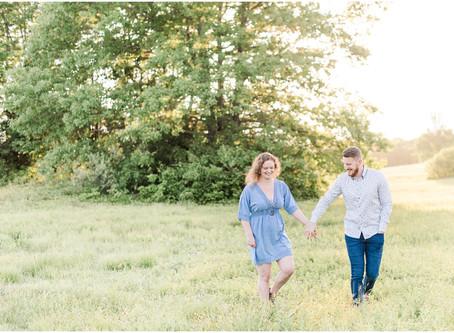 Wagon Hill Farm Engagement | Durham, NH | Siri + Travis| NH Wedding Photographer