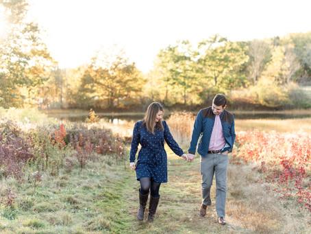 Wagon Hill Farm Engagement | Durham, NH | Courtney + Zack | NH Wedding Photographer