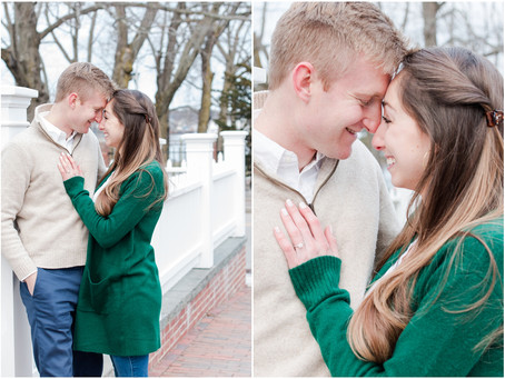 Downtown Portsmouth Winter Engagement | Portsmouth, NH | Associate Team