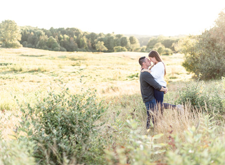 Wagon Hill Farm Engagement | Durham, NH | Amber + Brendan| NH Wedding Photographer