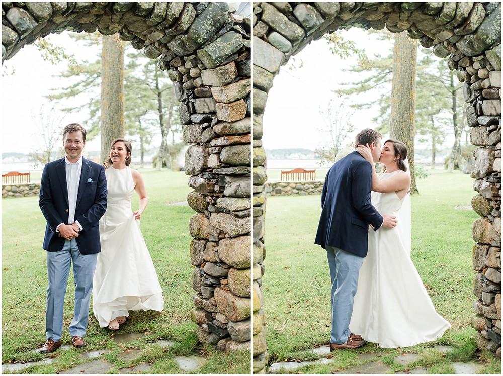 kennebunkport wedding first look