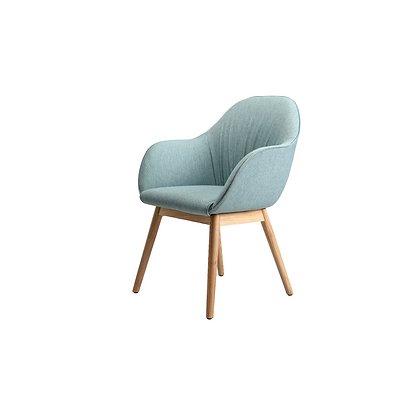 Mix -  Chair with wooden leg