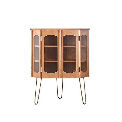 Vintage arch corner cabinet