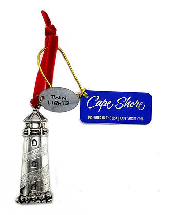 Silver Lighthouse  Ornament