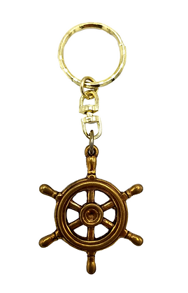 Ship wheel Key Ring