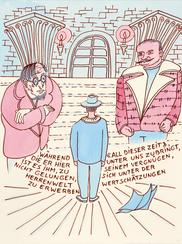 Tilo Steireif / Der Räuber nach dem Roman Robert Walsers / 112 Aquarellzeichnungen