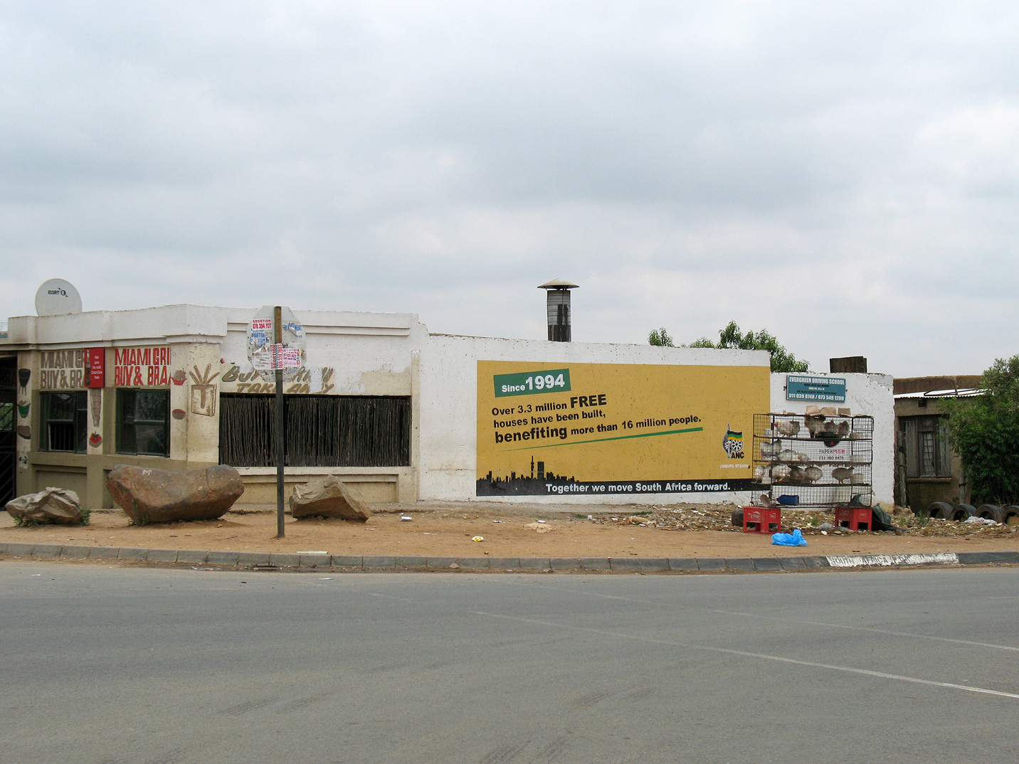 """""""Since 1994 FREE HOUSES ANC"""", Cosmo City"""