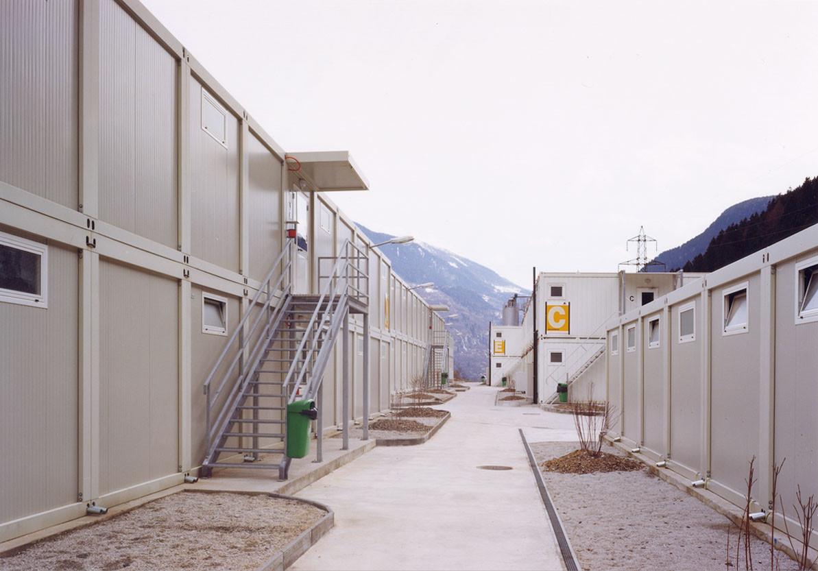 WELCOME HOME, Faido, habitat ouvrier sur le chantier du Saint-Gothard