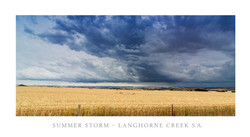 Summer Storm Langhorne Creek