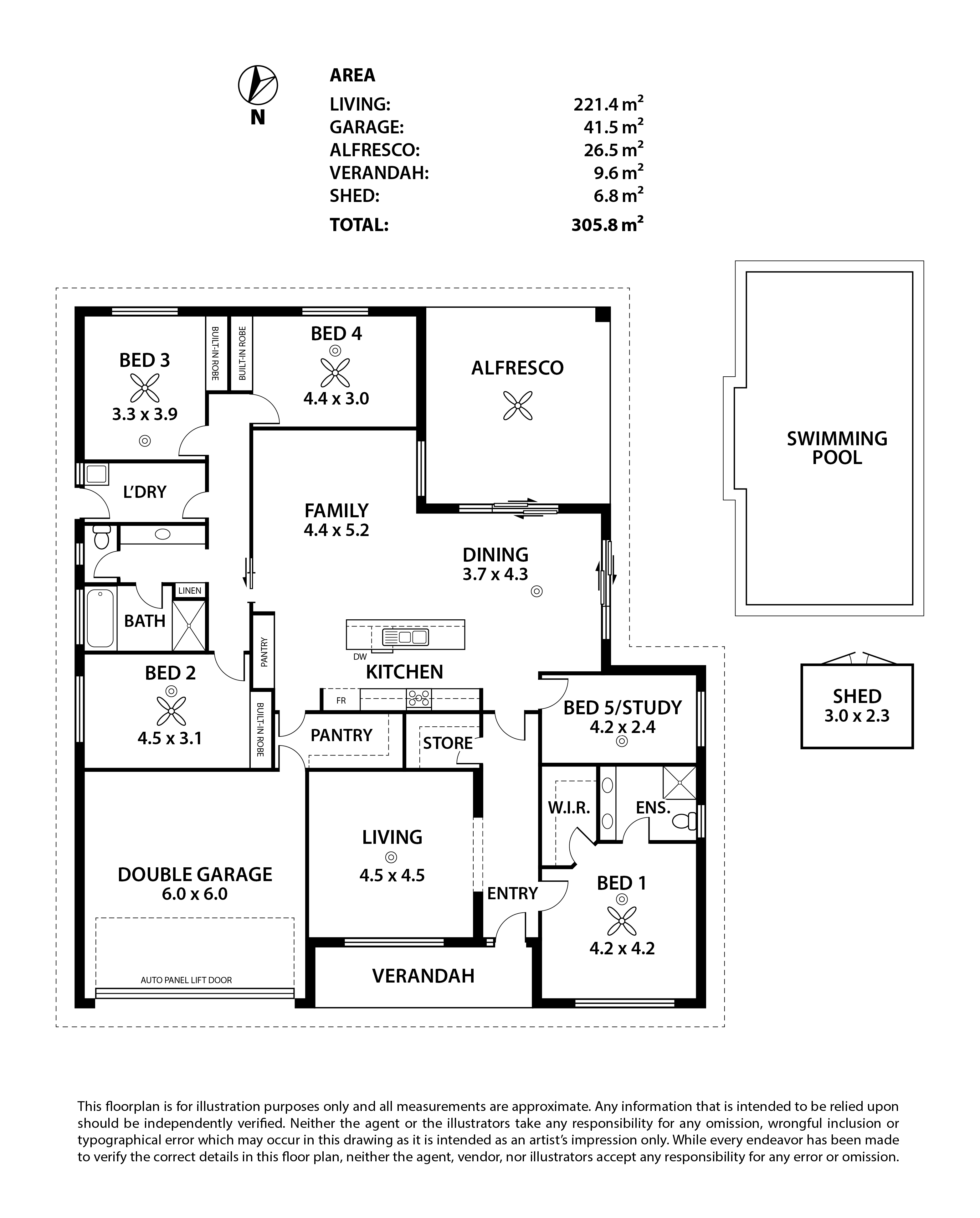 7 McRae Court, Strathalbyn Floor Plan-PRINT