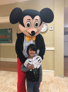 Mickey and a happy fan