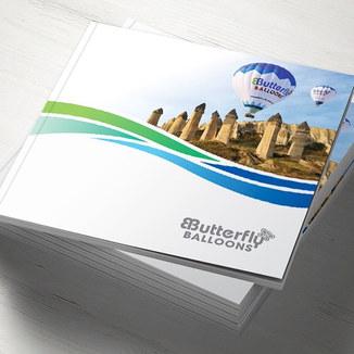 Butterfly Balloons Katalog Tasarımı