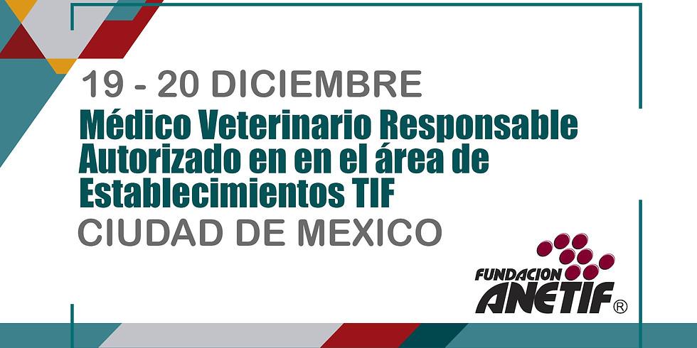 Médico Veterinario Responsable Autorizado en en el área de Establecimientos TIF