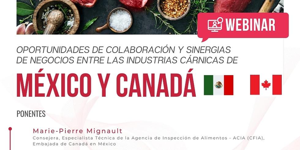 Webinar Oportunidades de colaboración y sinergias de negocios entre las industrias cárnicas de México y Canadá