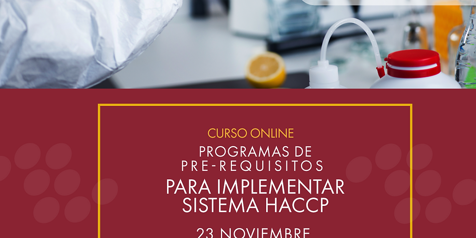 Programas de Pre- requisitos para implementar sistema HACCP