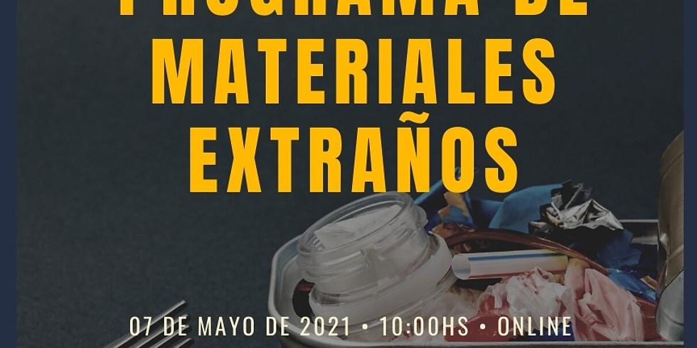 Online :: Programa de materiales extraños.