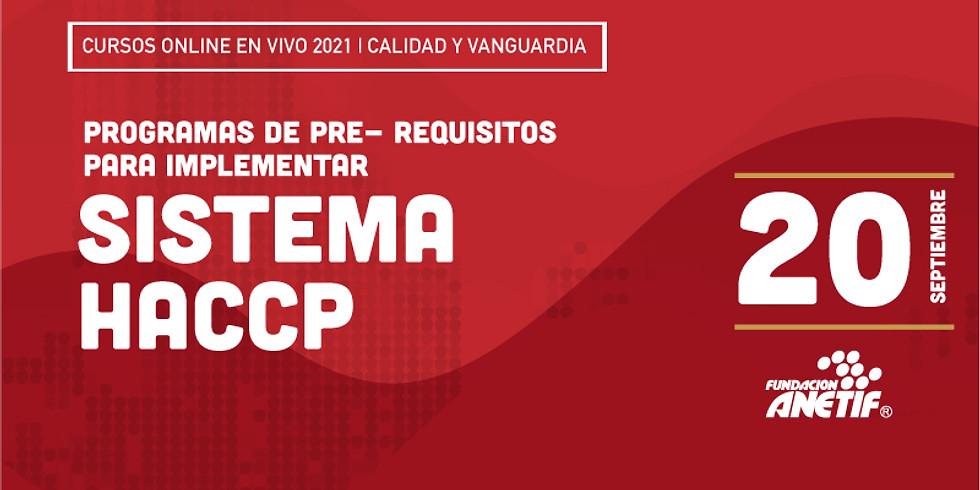 Online :: Programas de Pre- requisitos para implementar sistema HACCP