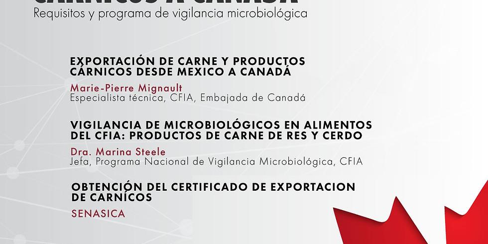 WEBINAR EXPORTACIÓN DE  CÁRNICOS A CANADÁ