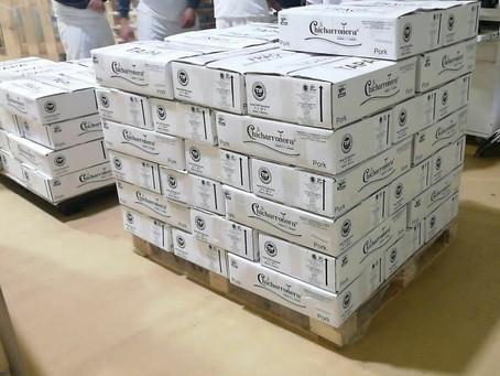 La Chicharronera, socio ANETIF,envía su primer contenedor de chicharrón prensado a EUA.
