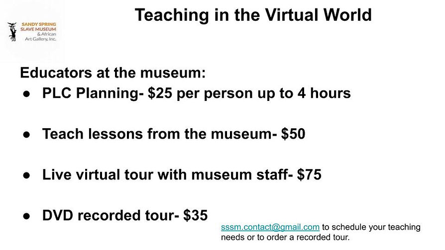 Virtual Education at the Slave Museum (1
