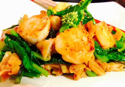 Scallop See Ew Noodles