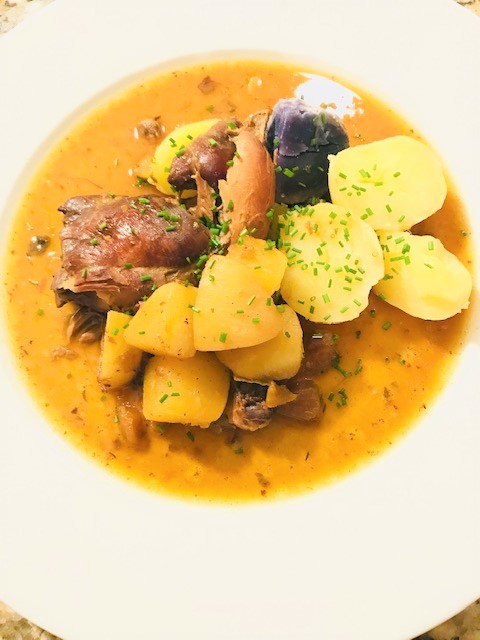 chicken stew with turnips and rutabaga