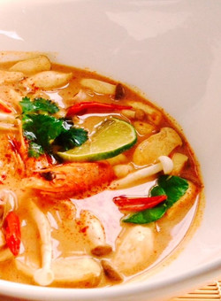 Traditional Thai Tom Yum Talay  (Spicy Seafood Soup)