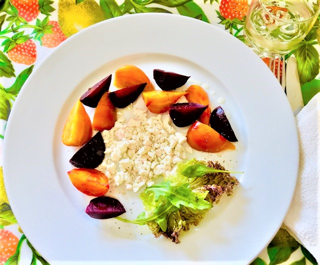 Beets with Feta Cheese