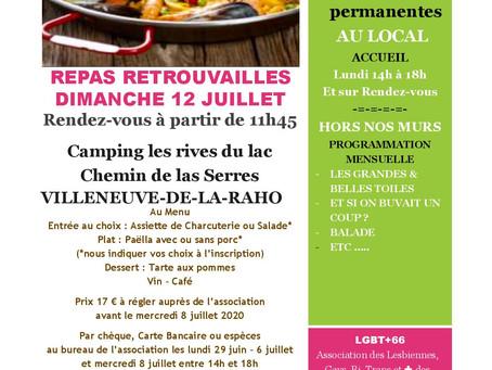 REPAS DE RETROUVAILLES 12 juillet 2020