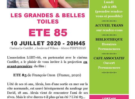 ÉTÉ 85 de François OZON le 10 Juillet 2020