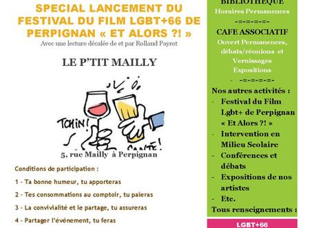 """Et si on buvait un coup ? Spécial Festival du Film LGBT+ de Perpignan """"Et Alors ?!"""" a 19h30"""